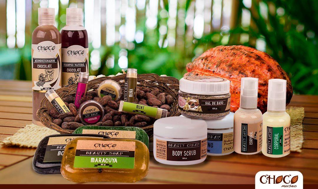 Productos de belleza hechos de cacao